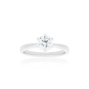 18ct White Gold Vanity Diamond Ring 1D=1.00ct
