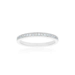 18ct White Gold Vera Diamond Band 19D=.18ct