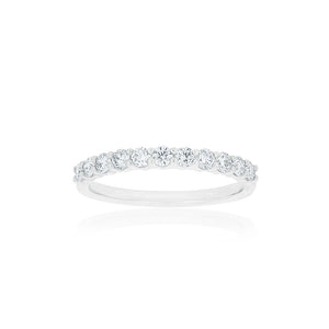 18ct White Gold Vittoria Diamond Band