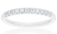 18ct White Gold Zita Diamond Band