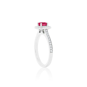 18ct White Gold Amira Ruby Diamond Ring