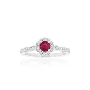 18ct White Gold Rosalia Ruby Ring