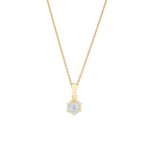 18ct Gold Alessia Diamond Pendant