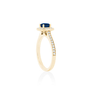 18ct Yellow Gold Amira Sapphire Diamond Ring