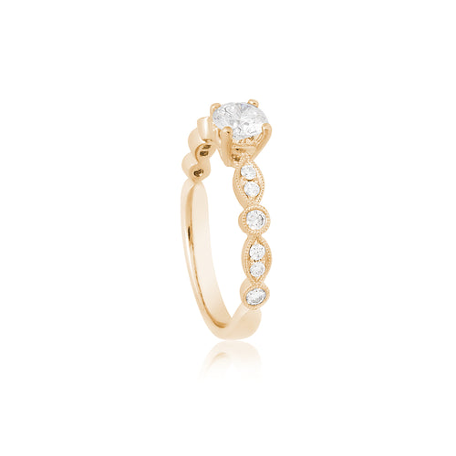 18ct Yellow Gold Olivia Diamond Ring 1D=.50ct