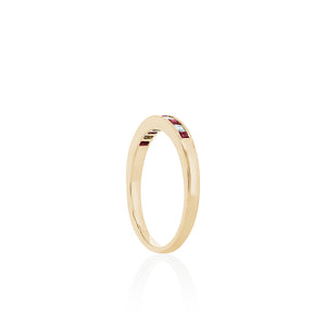 18ct Gold Grace Diamond Ring - Ruby