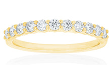 18ct Yellow Gold Vittoria Diamond Band