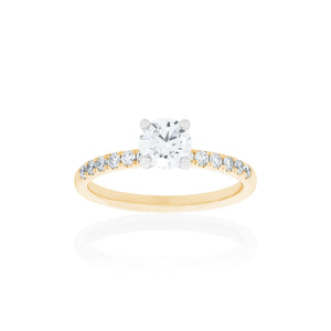 18ct Gold Aria Diamond Ring 1D=.50ct