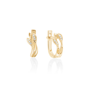9ct Gold Mae Diamond Hoop Earring