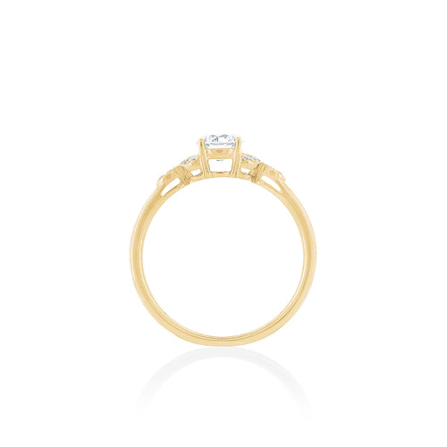 18ct Yellow Gold Poppy Diamond Ring 1D=.55ct