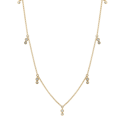 9ct Gold Tinsley Diamond Necklace
