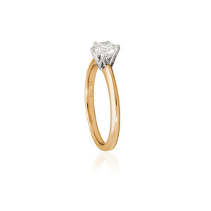 18ct Yellow Gold Elene Diamond Ring 1D = .80ct
