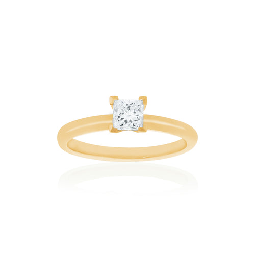 18ct Yellow Gold Kaia Diamond Ring 1D=.52ct