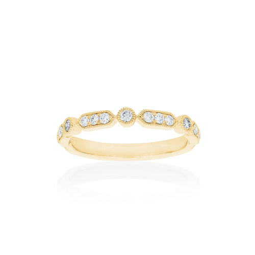 18ct Yellow Gold Kensington Diamond Band