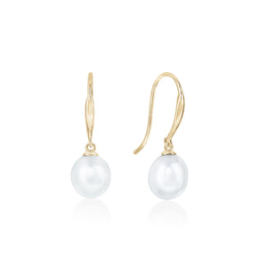 9ct Gold Naya FWP Pearl Drop Earring