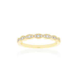 18ct Yellow Gold Rosalia Diamond Band