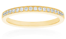 18ct Yellow Gold Vera Diamond Band 19D=.17ct