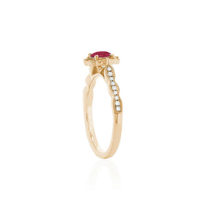 18ct Yellow Gold Rosalia Ruby Ring