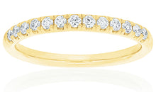 18ct Yellow Gold Victorine Diamond Band