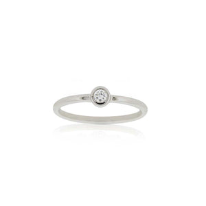 9ct White Gold Droplet Diamond Ring