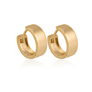 9ct Yellow Gold Square Profile Hoop Earrings