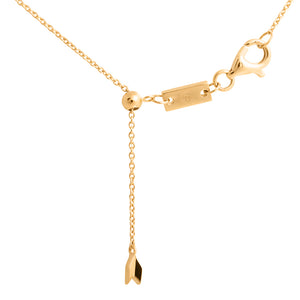 9ct Yellow Gold Moon Diamond Pendant