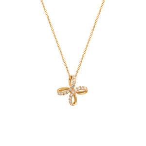 9ct Yellow Gold Diamond Unity Pendant
