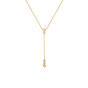 9ct Yellow Gold Tallulah Diamond Pendant
