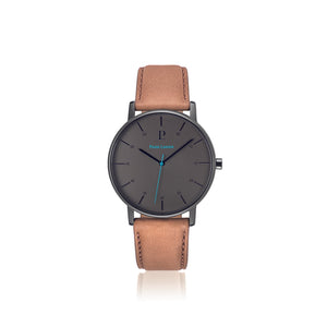 Cityline Silver Blue Brown 39mm Watch