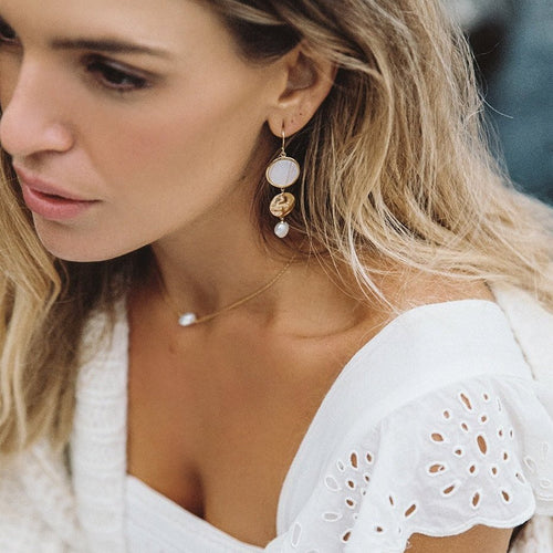 Gold Plated By The Sea Earring