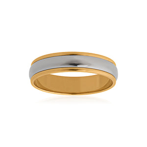 9ct Yellow Gold Titanium Band 5mm