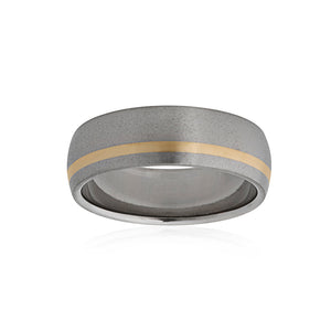 Titanium 9ct Yellow Gold Bitone Band 7mm