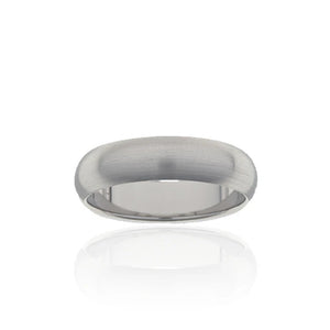 Titanium Half Round Band 7mm