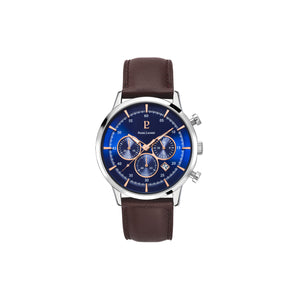 Capital Chrono Silver Blue Brown 43mm Watch