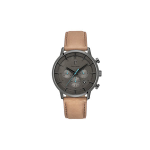 Capital Chrono Black Brown Dune 43mm Watch