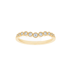 18ct Yellow Gold Macie Diamond Band