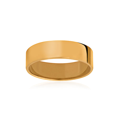 9ct Yellow Gold Soft Edge Band 6mm Sample