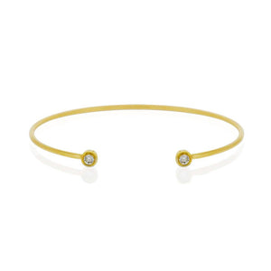 9ct Gold Droplet Diamond Cuff Bracelet