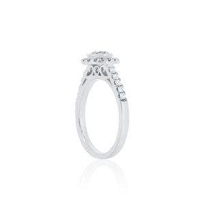 18ct White Gold Ivy Diamond Ring 1D=.52ct