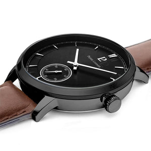 Pierre Lannier Allure Black Brown 42mm Watch