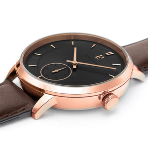 Pierre Lannier Allure Rose Gold Grey Brown 42mm Watch