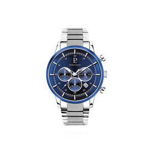 Capital Chronograph Silver Blue Silver Links 43mm Watch