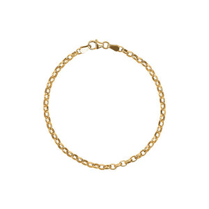 9ct Yellow Gold Oval Belcher Bracelet