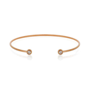 9ct Rose Gold Droplet Diamond Cuff
