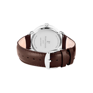 Beaucour Silver Blue Brown 42mm Watch