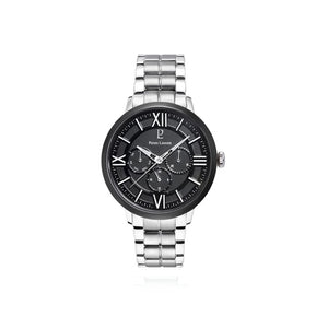 Beaucour Black Black Silver Link 42mm Watch