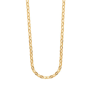 9ct Yellow Gold Oval Belcher Dia Curb Chain