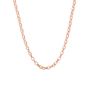 9ct Rose Gold Oval Belcher Necklace
