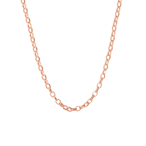 9ct Rose Gold Oval Belcher Chain