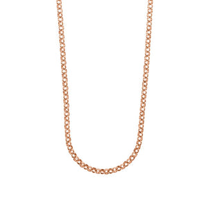 9ct Rose Gold Round Belcher Chain Necklace